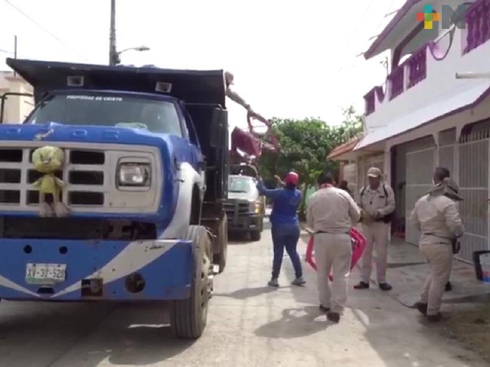Ayuntamiento de Cosamaloapan realiza  programa de «Descacharrización y eliminación de criaderos»