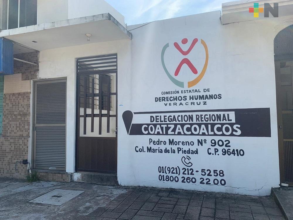 En CEDH delegación Coatzacoalcos se presenta caso de COVID-19