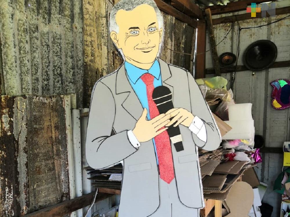 En Coatzacoalcos, elaboran piñata de López Gatell