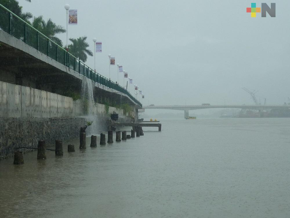 Emiten alerta gris por temporal lluvioso en el estado de Veracruz