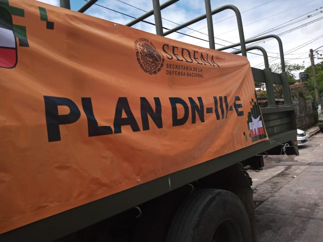 """Sedena continúa ininterrumpidamente aplicando el Plan DN-III E, con motivo de la depresión Tropical """"Hanna"""""""