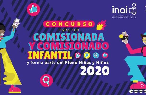 INAI invita a participar en concurso para ser comisionada y comisionado infantil 2020