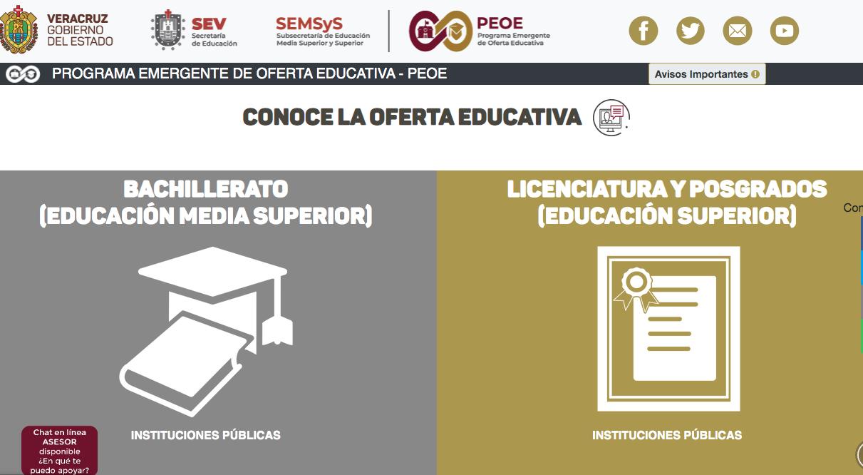 Aún disponible el Programa Emergente de Oferta Educativa 2020