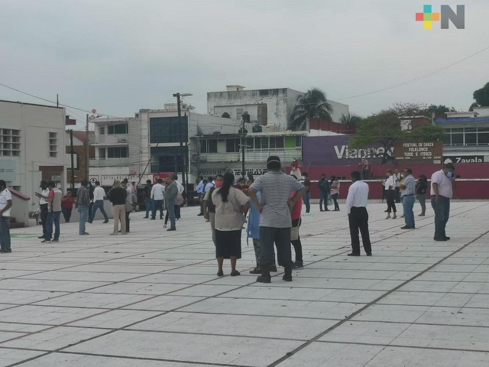 Sismo de 7.5 grados, sorprende a pobladores de Coatzacoalcos