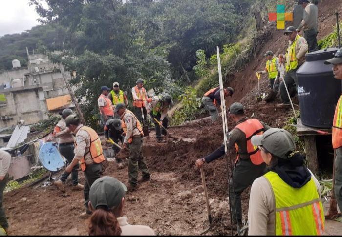 Siguiendo protocolos sanitarios, Protección Civil municipal no deja de trabajar en época de lluvias