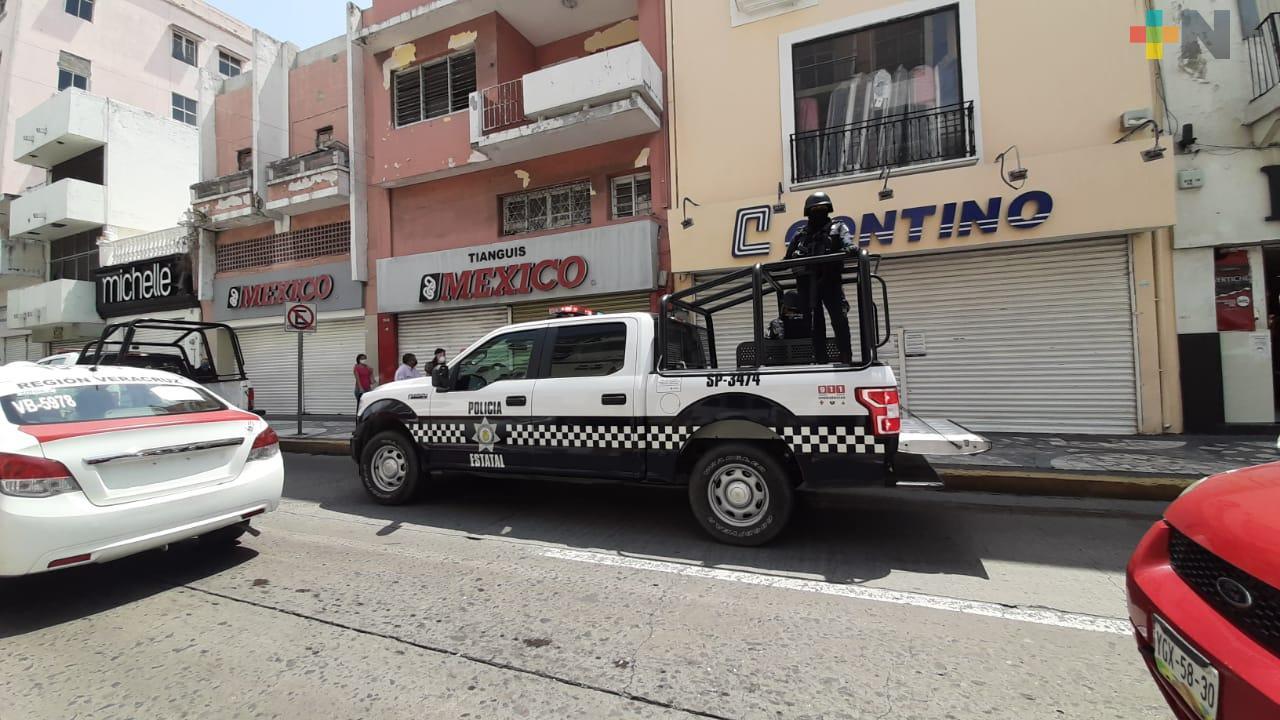 En comercios esenciales de ciudad de Veracruz, verifican se cumplan lineamientos sanitarios