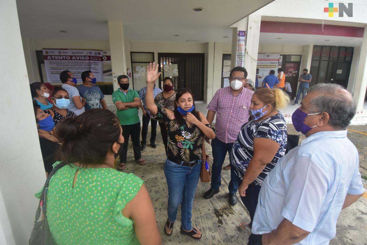 Propietarios de bares y cantinas se manifiestan; los atiende Ayuntamiento de Coatzacoalcos