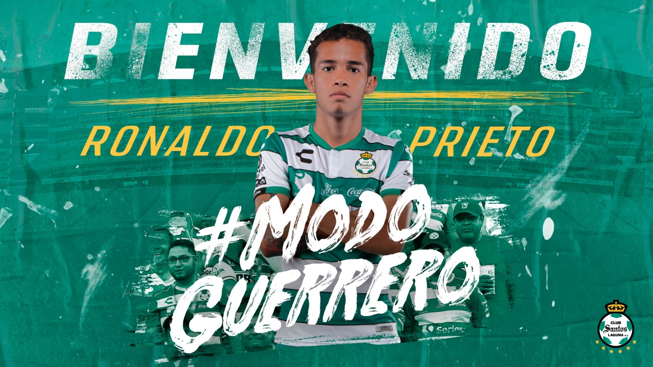 Santos Laguna contrata al veracruzano Ronaldo de Jesús Prieto