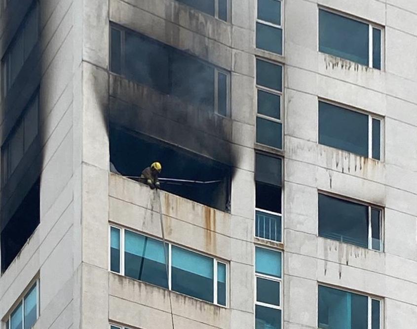 Controlan incendio en Torre JV de Boca del Río