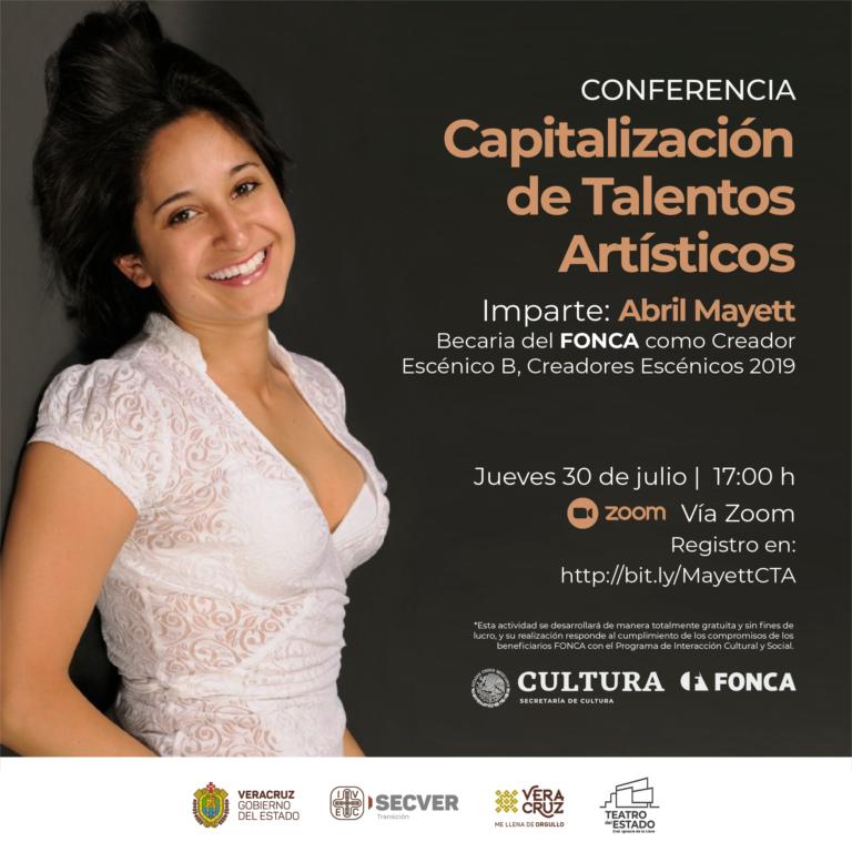 """Invita IVEC, a través del Teatro del Estado, a la conferencia """"Capitalización de Talentos Artísticos"""""""