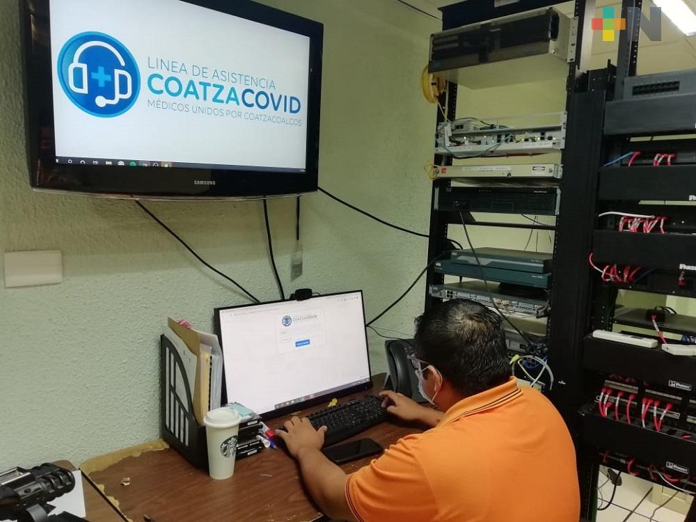 En Coatzacoalcos, línea Covid ha atendido a 100 personas con síntomas similares al coronavirus