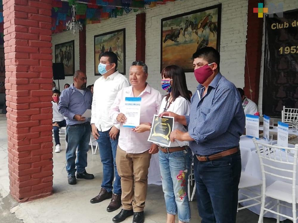 En Orizaba, entregan reconocimientos a periodistas y reporteros por el Día de la Libertad de Expresión