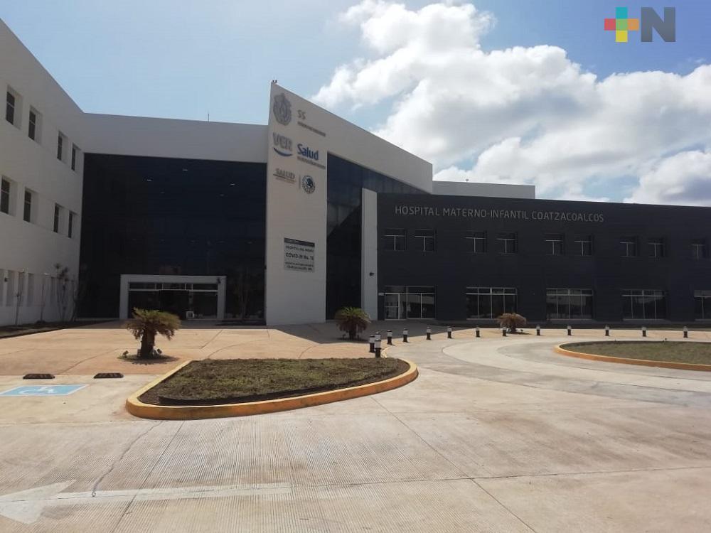 Entra en funcionamiento Hospital Materno Infantil de Coatzacoalcos para atender pacientes con COVID-19