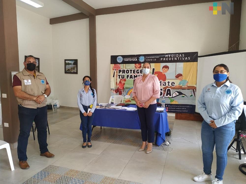 Fortalecimiento para la Seguridad se reúne con docentes para prevención del delito en Tantoyuca