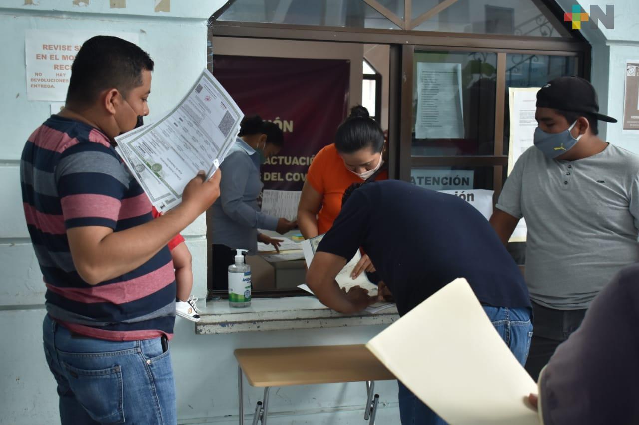 Registro Civil en Tantoyuca continúa ofreciendo trámites