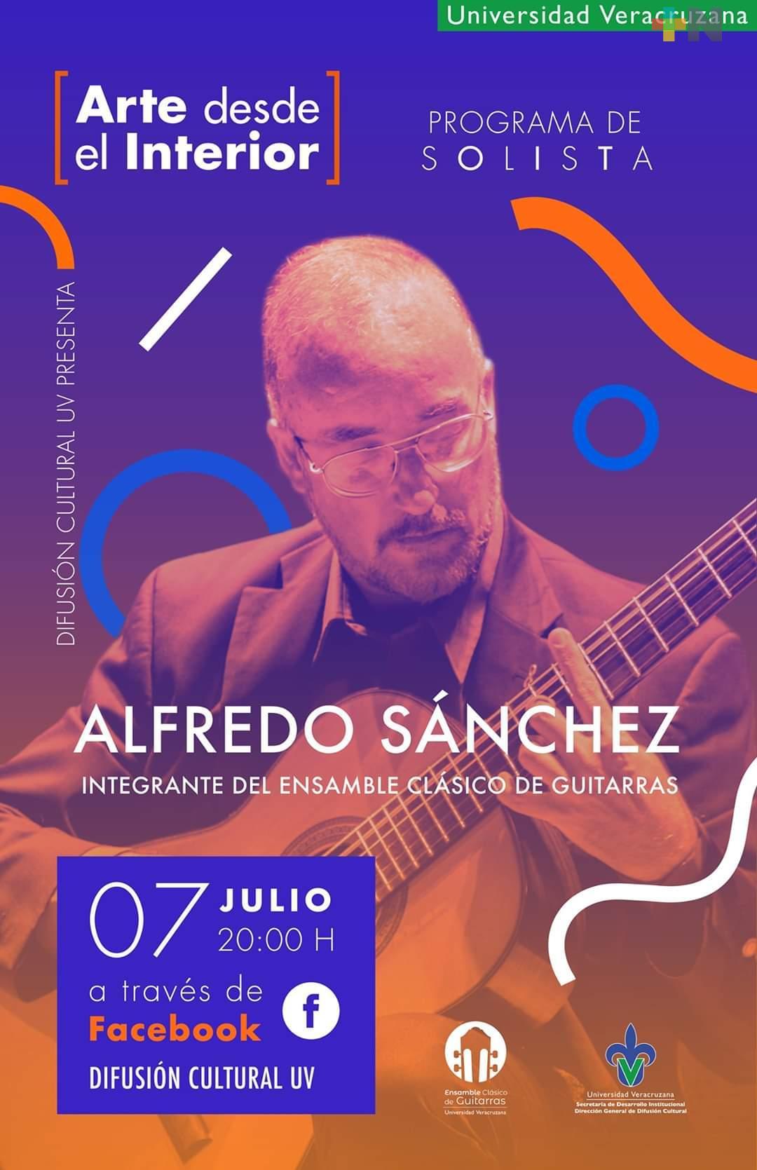 Difusión Cultural UV presenta el arte de la guitarra clásica en su primer programa de solistas