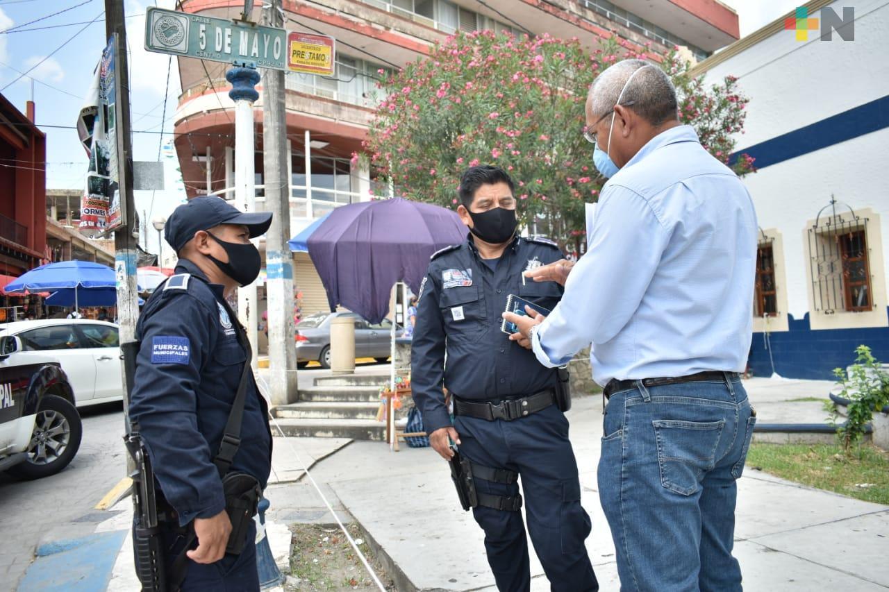 Continúan trabajos de prevención del delito en Tantoyuca