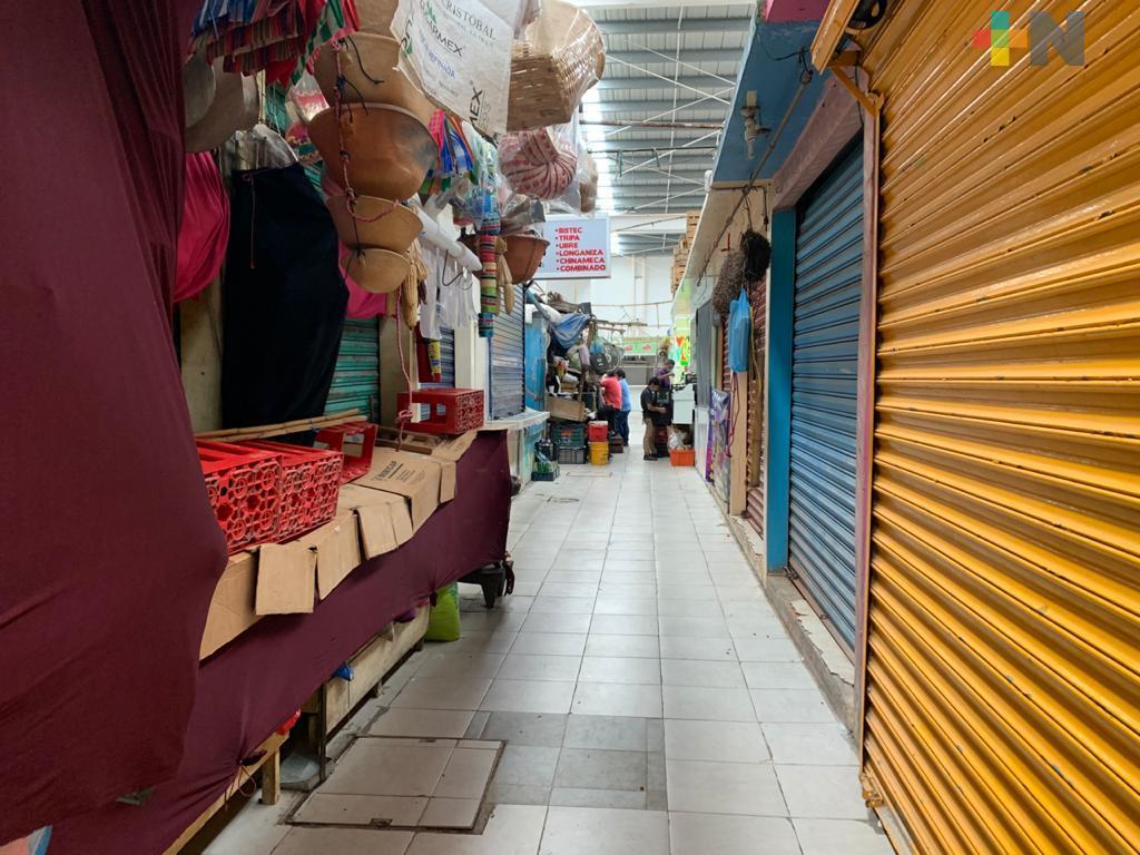 Locatarios del mercado Morelos aseguran cumplir medidas sanitarias