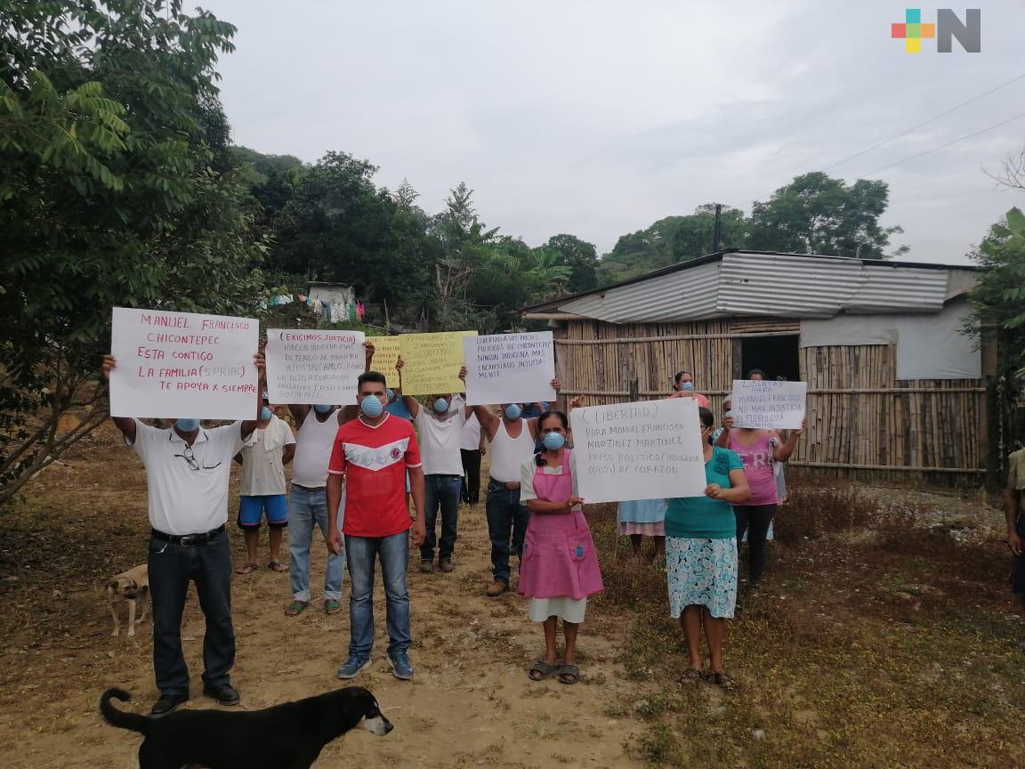 Pobladores de Chicontepec piden al Poder Judicial que analice casos de aprehensión de ex diputado y luchadores sociales