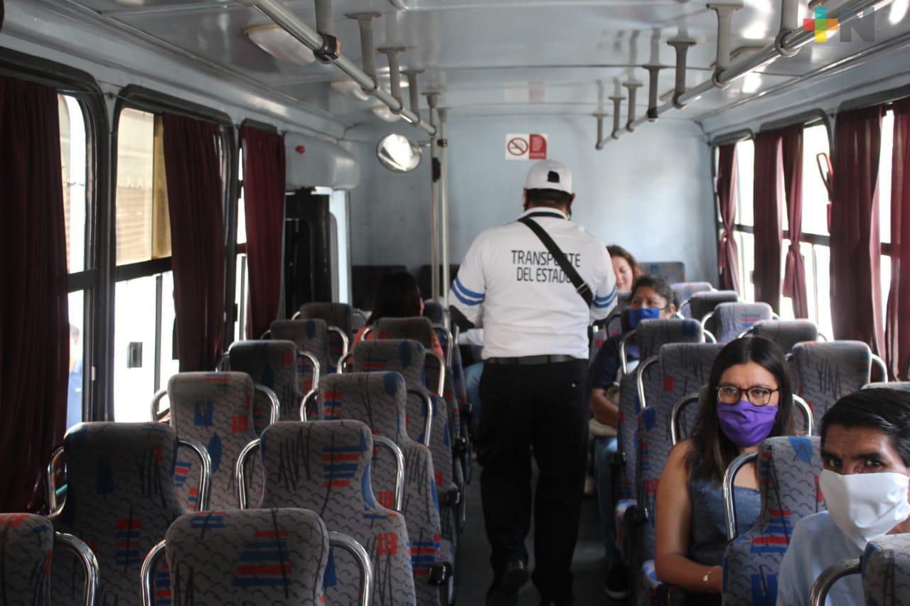A partir del lunes será obligatorio usar cubrebocas para abordar el transporte público en el estado