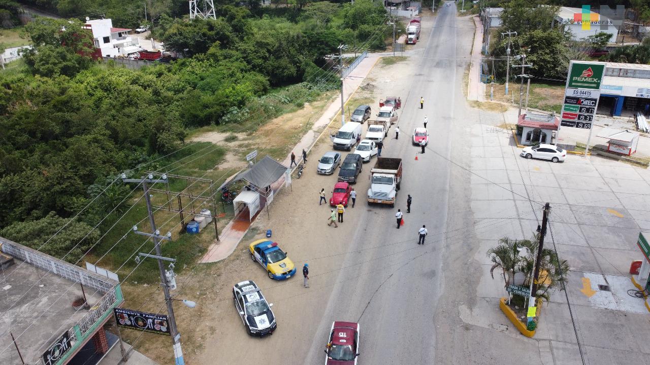 Refuerzan módulos desinfectantes en Tantoyuca