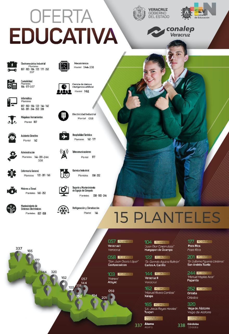 Hay 4 mil espacios en CONALEP para el ciclo escolar 2020-2021: SEV
