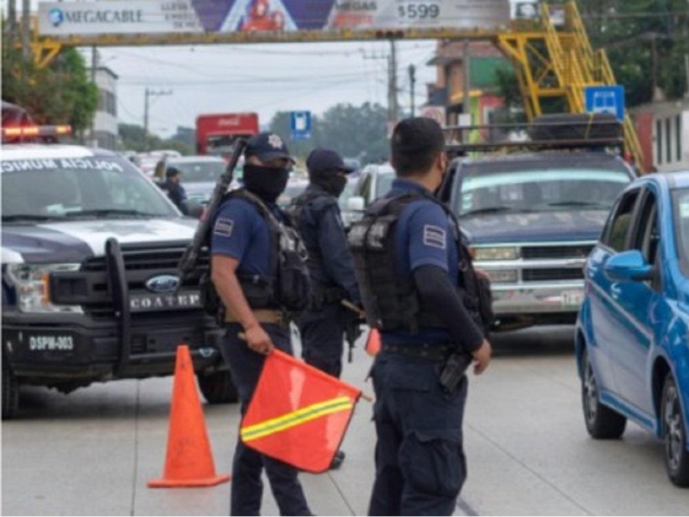 Instalan filtro sanitario a las entradas a Coatepec para exhortar el uso de cubrebocas