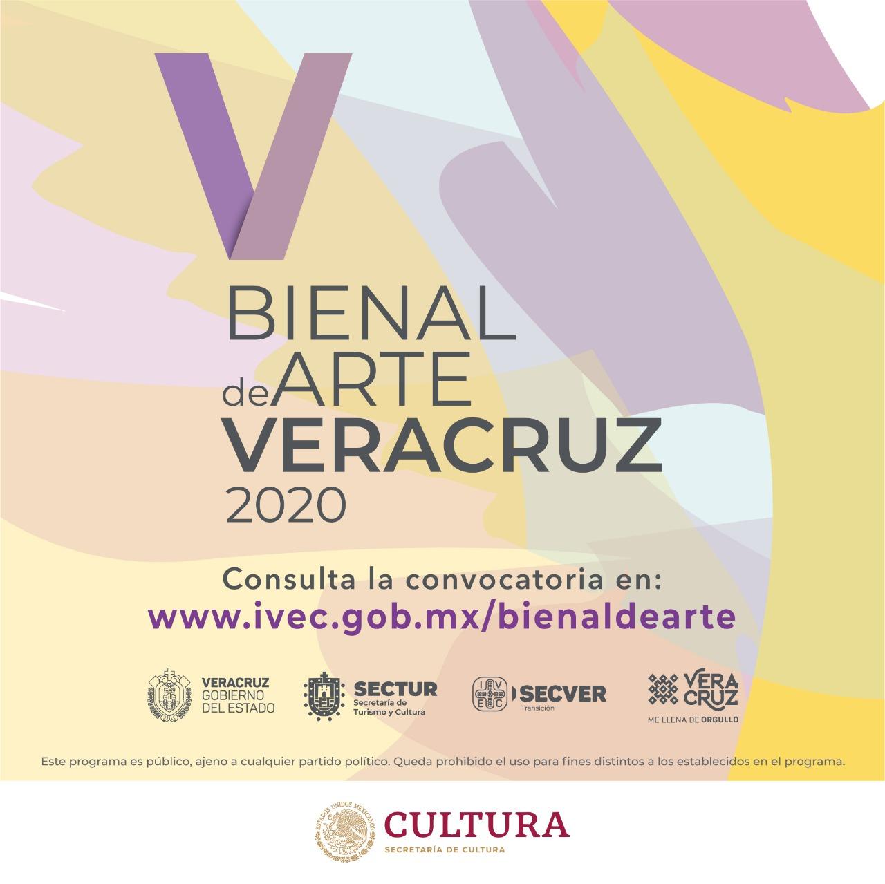 Emite IVEC convocatoria para participar en la Bienal de Arte Veracruz 2020, quinta emisión