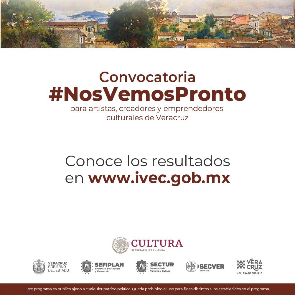 Emite IVEC resultados de la convocatoria #NosVemosPronto