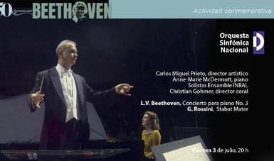 Invitan a disfrutar del Concierto para piano núm. 3 de Beethoven y el Stabat Mater de Rossini