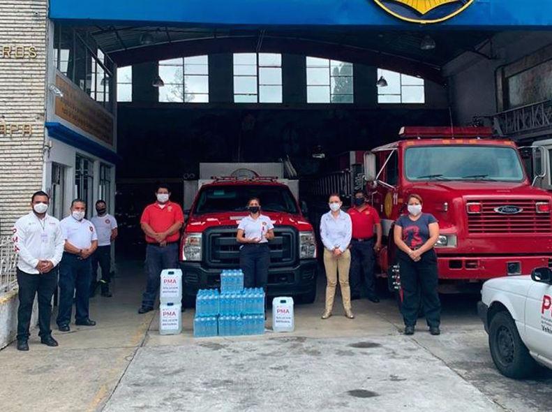 Procuraduría del Medio Ambiente distribuyó solución antiviral en Xalapa