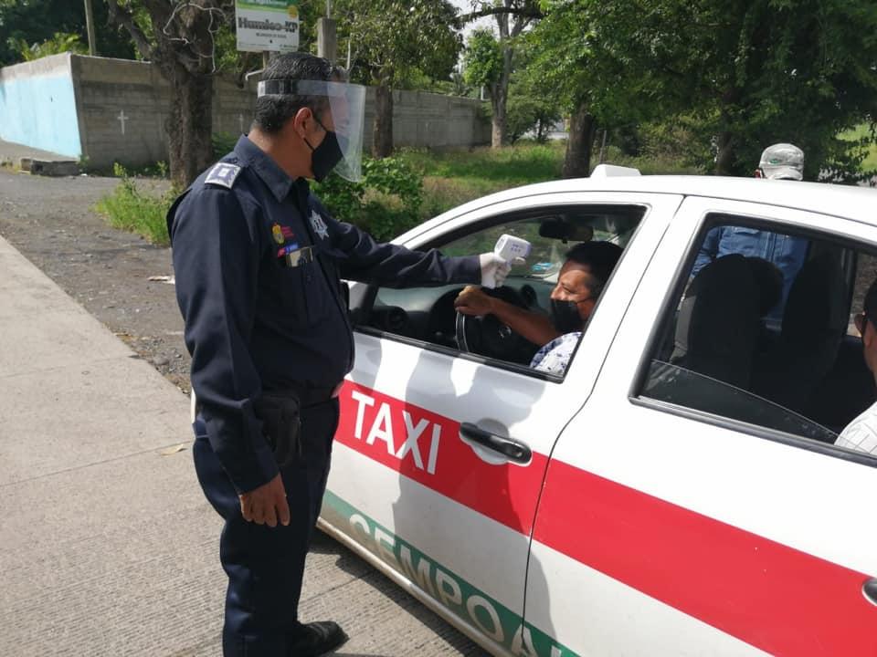 Personal de Tránsito y Seguridad Vial realizó operativo sanitario en Cardel