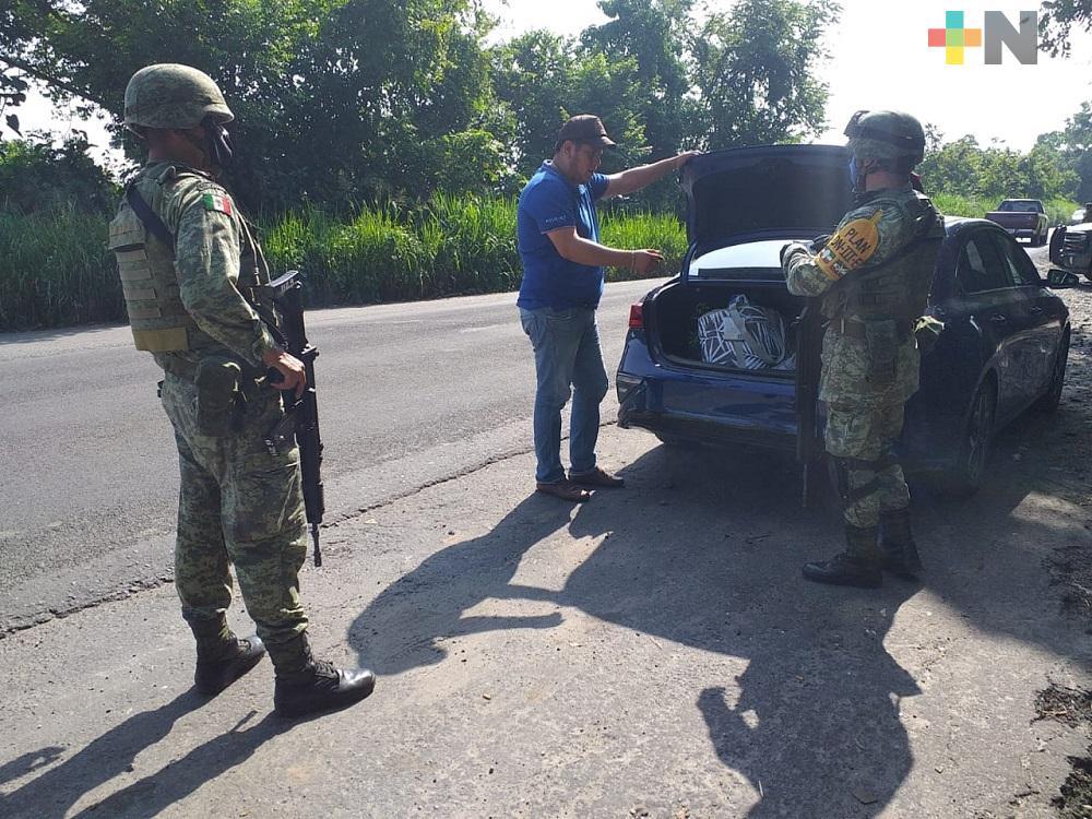 SSP y Ejército realizan operativo de revisión y vigilancia en Martínez de la Torre