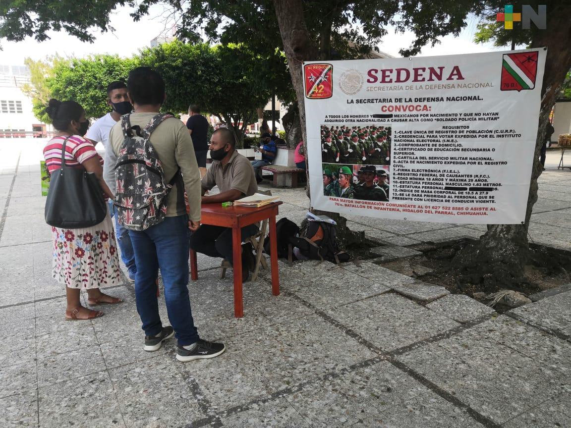 Sedena inició reclutamiento en Coatzacoalcos