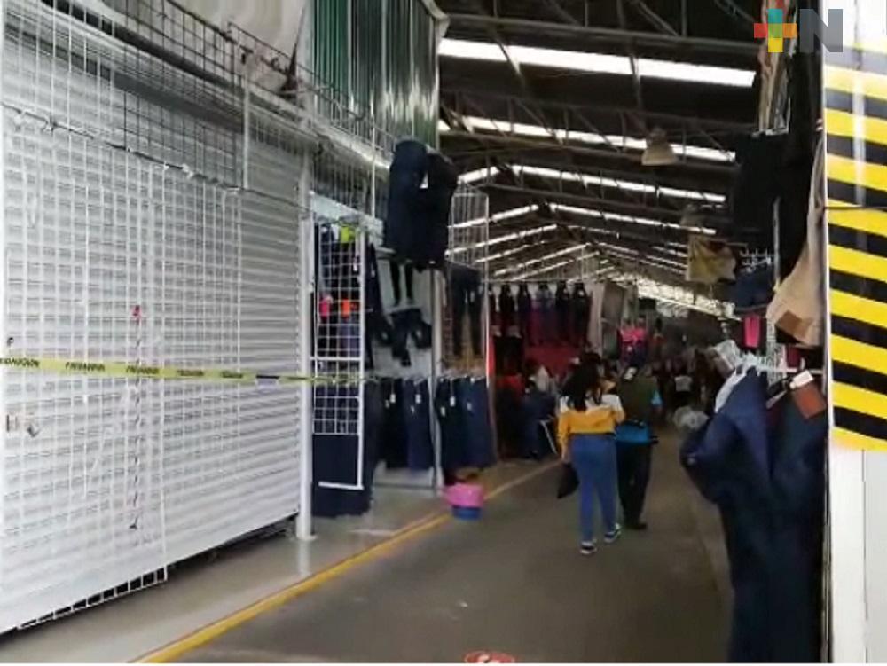 En Fortín, tianguistas siguen sin recuperarse por las bajas ventas