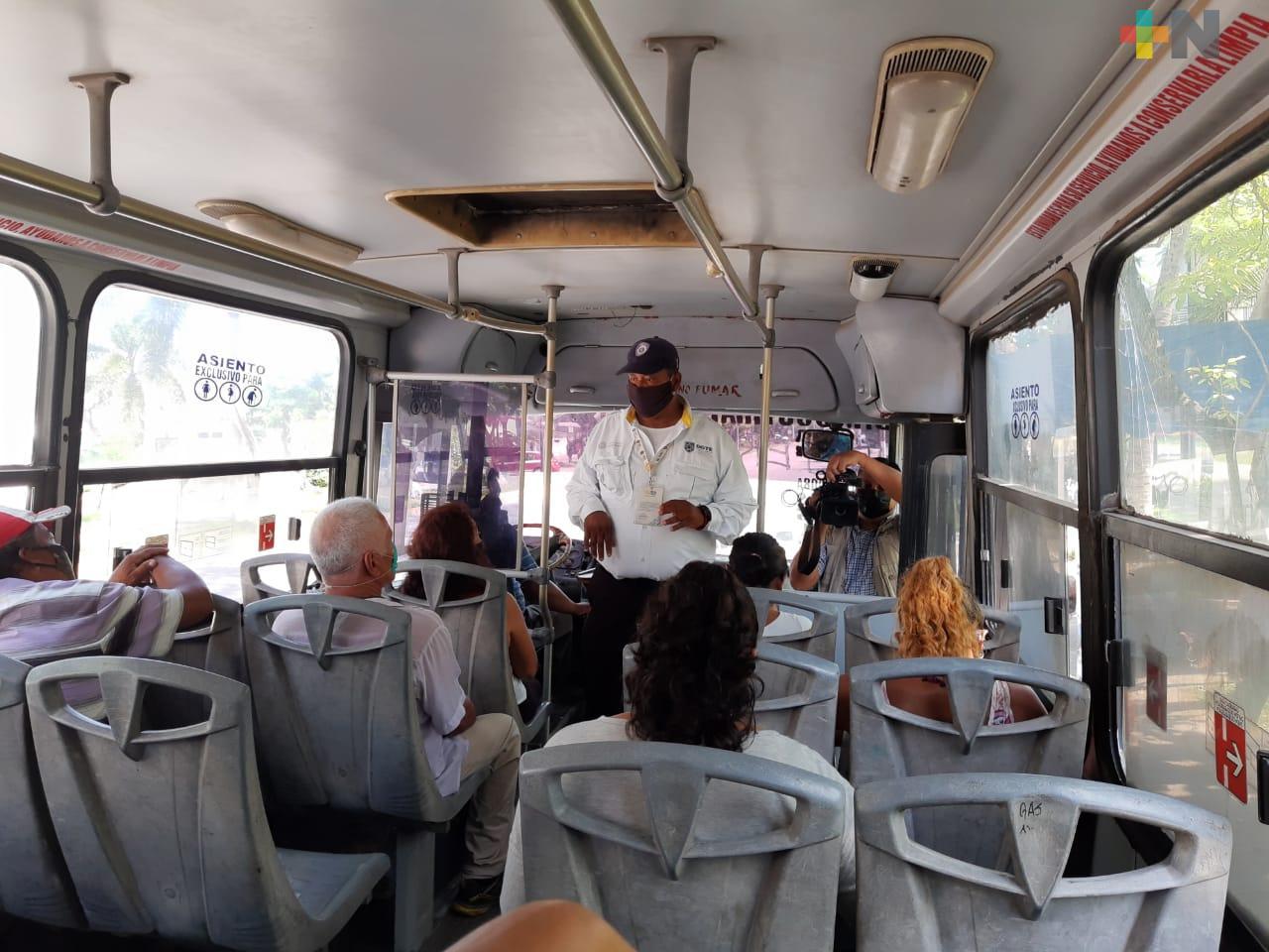 Vigilarán ocupación de 50%  en transporte urbano, en región Veracruz