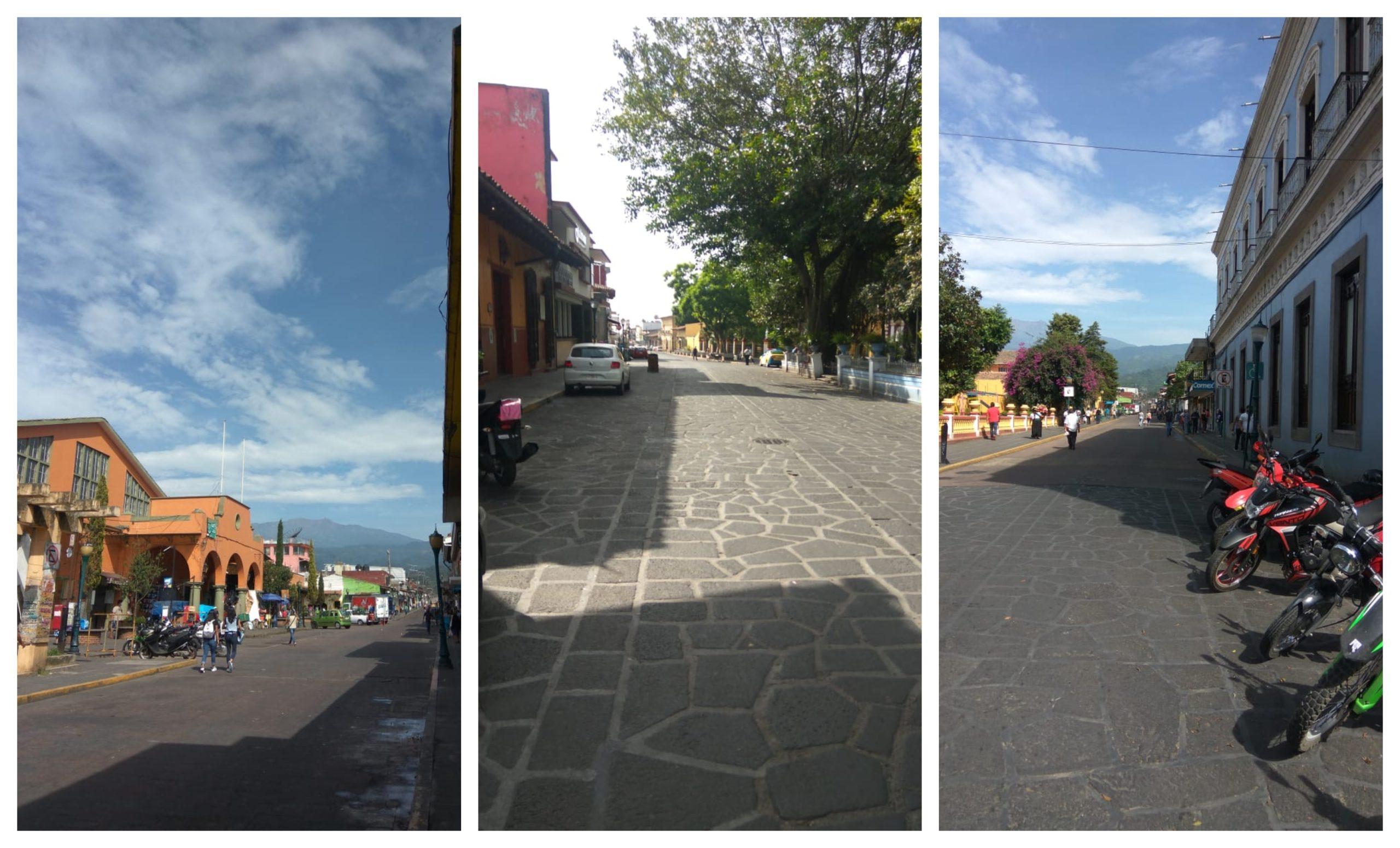 Ante cierre de vialidades, el centro de Coatepec luce vacío de vehículos