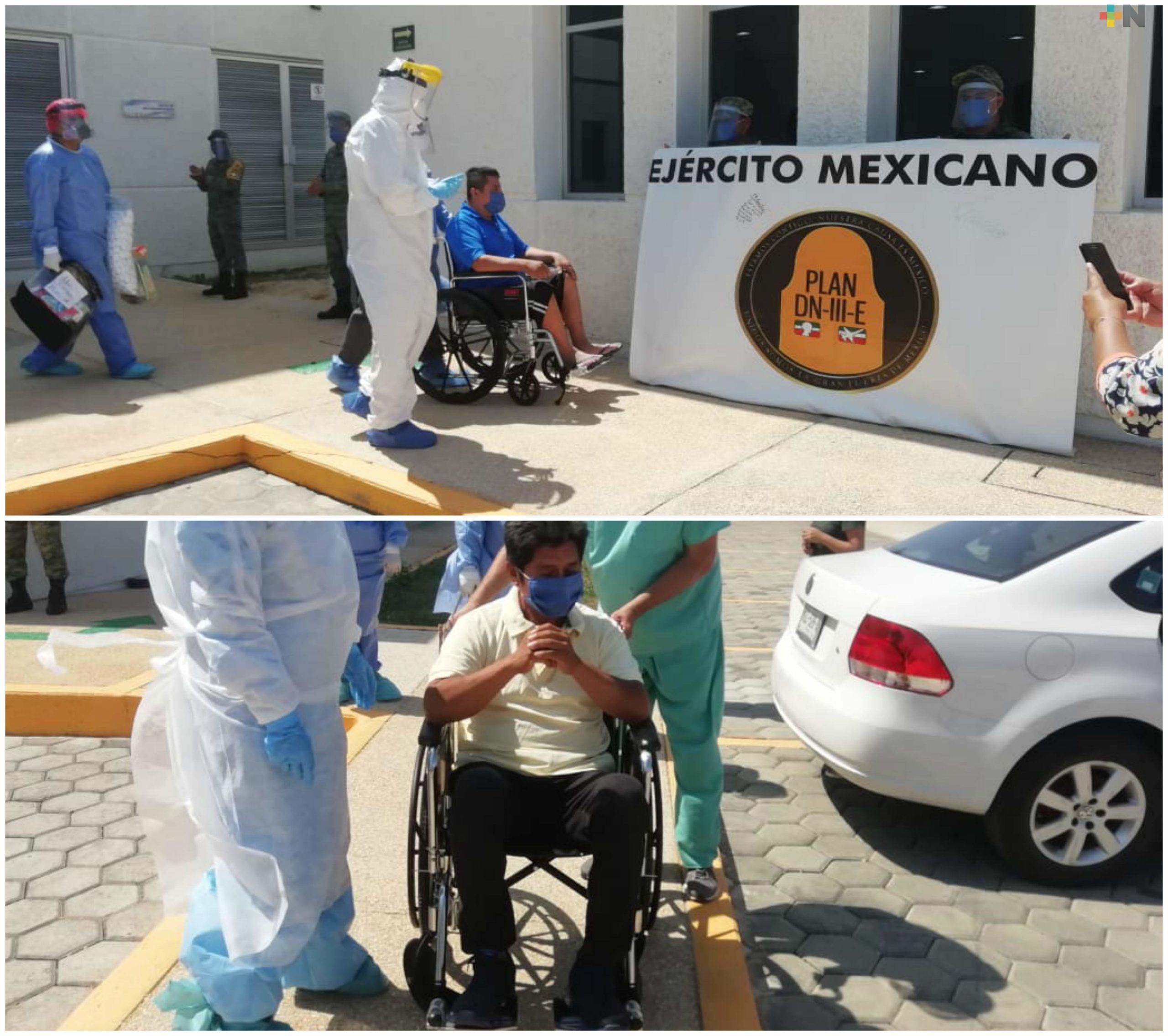 Tras vencer COVID-19,  cuatro pacientes dejan el Hospital Materno Infantil de Coatzacoalcos