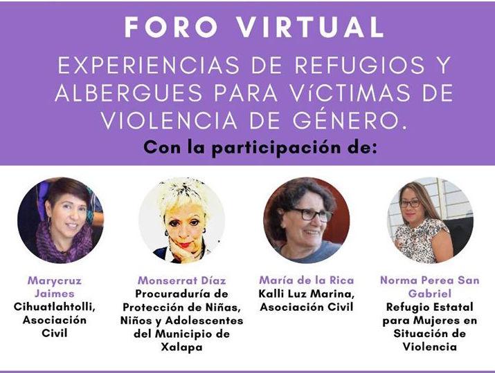 Realizan foro virtual sobre refugios y la atención que se otorga a mujeres víctimas de violencia