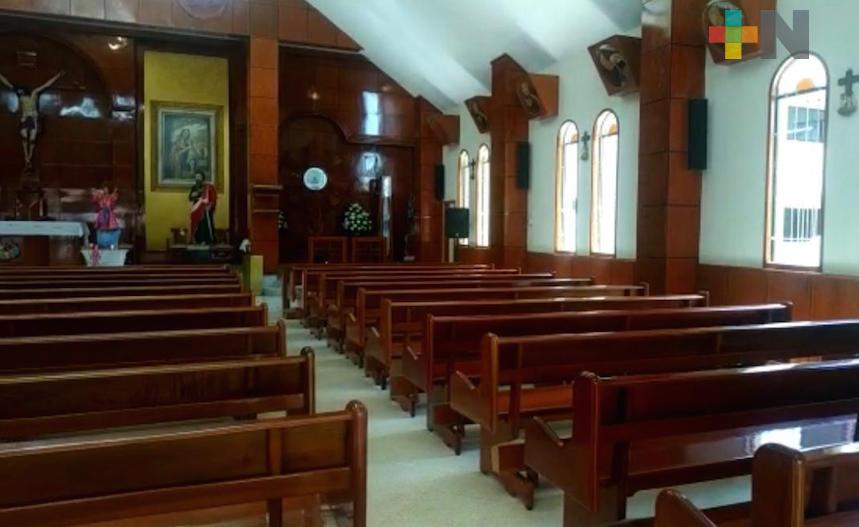 Algunas iglesias de la Diócesis de Coatzacoalcos se mantienen abiertas