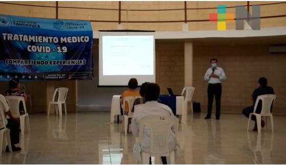 Comparten experiencias sobre tratamiento médico del COVID-19 en Tantoyuca