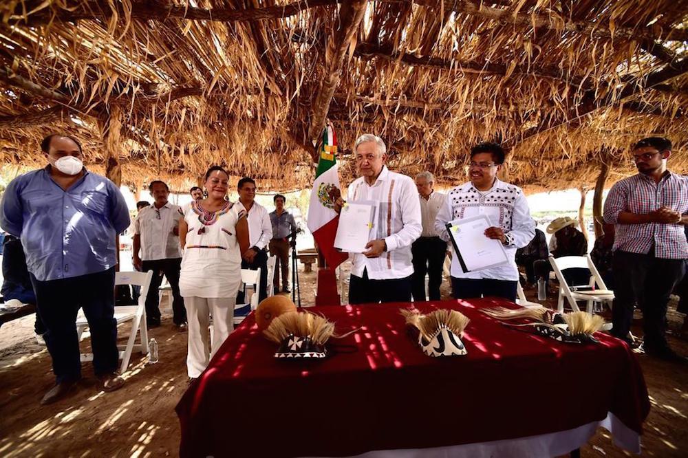 Presidente firma acuerdo para la implementación del Plan de Justicia del Pueblo Yaqui