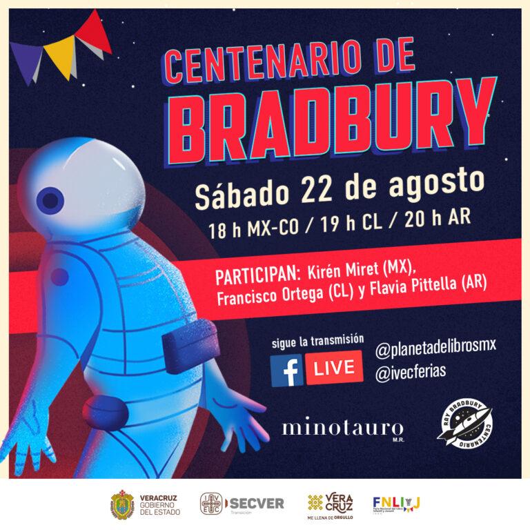 Invita IVEC a la mesa 100 años con Bradbury, en alianza con Grupo Planeta México