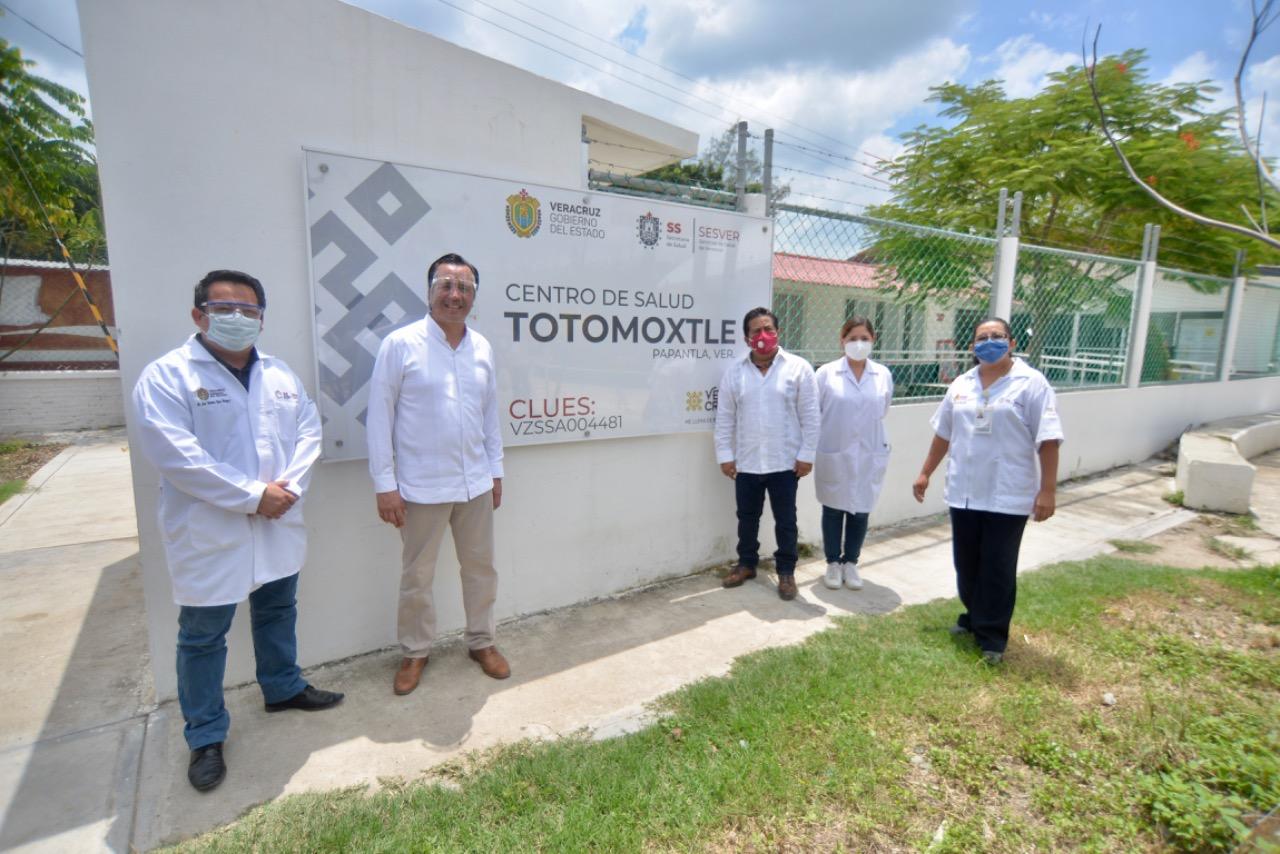 En Totomoxtle, Cuitláhuac García entrega nuevo Centro de Salud