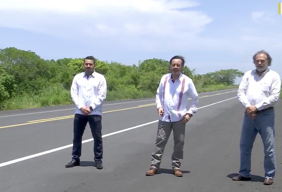 Supervisó el gobernador Cuitláhuac García rehabilitación de la carretera Paso del Toro-Alvarado