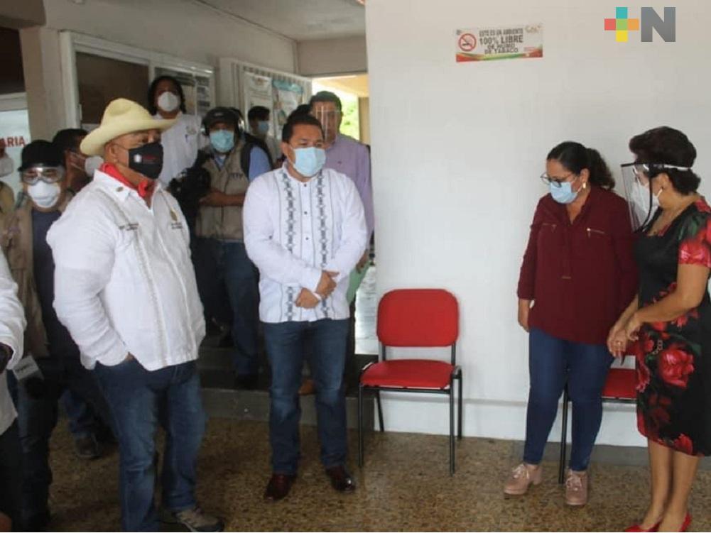 Activó secretario Eric Cisneros módulos de sanitización en municipios de la Cuenca del Papaloapan
