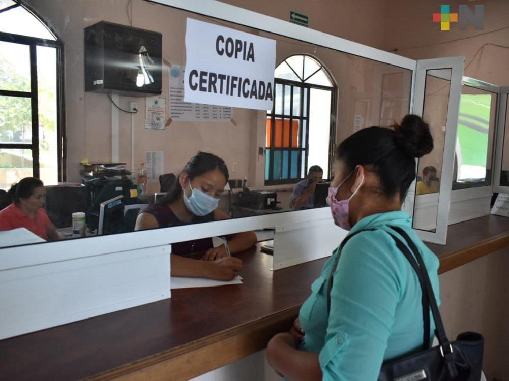 Aumentan servicios de Registró Civil en Tantoyuca; algunos se reanudan para atención al público