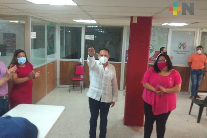 Carlos Alberto Troncoso, nuevo dirigente municipal del PRI en Veracruz