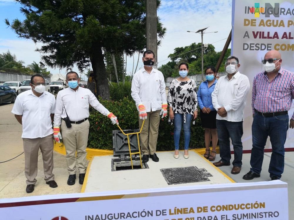 Cerca de 20 mil usuarios contarán con agua de calidad en Villa Allende y Rabón Grande en Coatzacoalcos