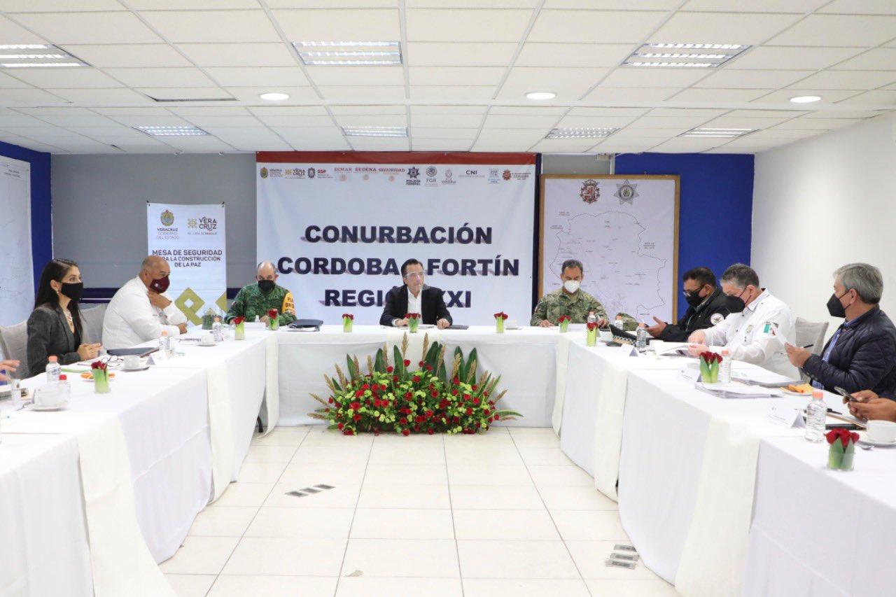 Evaluó Cuitláhuac García estrategia de seguridad en la región de Córdoba